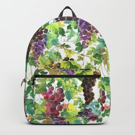 Wine Grapes In Watercolor Backpack