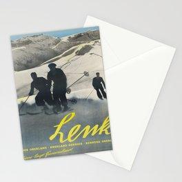 lenk berner oberland funiculaire vintage Poster Stationery Cards