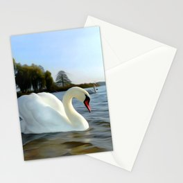 Mute Swan Art Stationery Cards