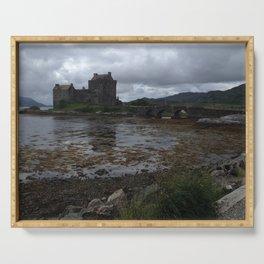 Eilean Donan Castle in Scotland Serving Tray