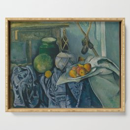 Paul Cezanne - Still Life with a Ginger Jar and Eggplants Serving Tray