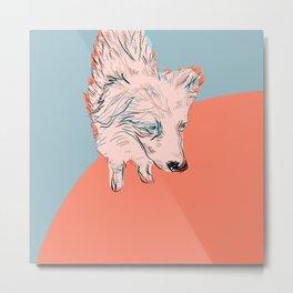 Garage Dog Metal Print