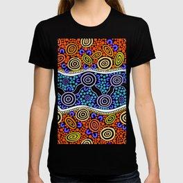 Authentic Aboriginal Art - River Journey T-shirt