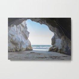 Pismo Beach Cave Metal Print