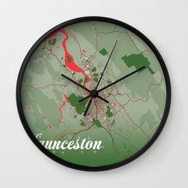 Launceston - Australia Christmas Color City Map Wall Clock