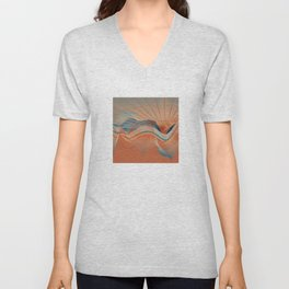 Hot Day At The Beach Unisex V-Neck