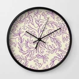 Impression indienne purple and cream. Wall Clock