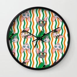 St. Paddy's Day Sphynx Rick Rack Wall Clock