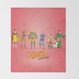 Dungeons and Dragons - Pixel Nostalgia Throw Blanket