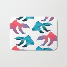 Pattern Oil Painting Abstract Tropical Fish Bath Mat