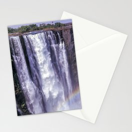 Rainbow over Victoria Falls Stationery Cards