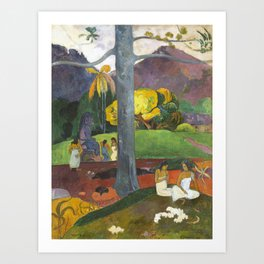 Mata Mua by Paul Gauguin Art Print