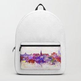 Groningen skyline in watercolor background Backpack