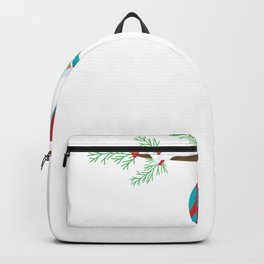Christmas Sloth Hanging on a Pine Branch Backpack