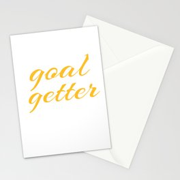 Goal Getter Soccer Motivation Coach  Stationery Cards