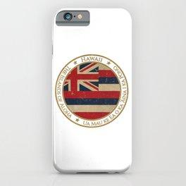 Vintage Hawaii US State iPhone Case
