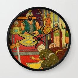 Small Judge by Rudolf Koivu Wall Clock