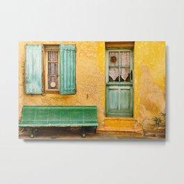 Old Yellow Wall Metal Print