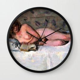 Isaac Lazarus Israels - Lying Naked - Digital Remastered Edition Wall Clock