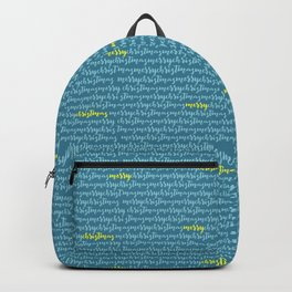 Merry Christmas in Blue Backpack