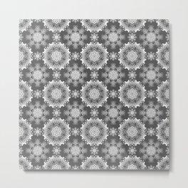 Black and white ornament. Metal Print