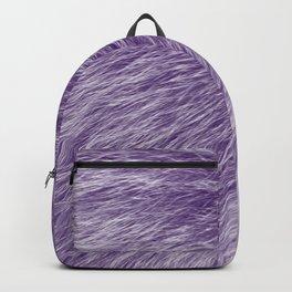 Lollipop Purple Fur Backpack
