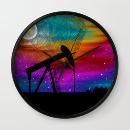 Pumpjack- Oilfield Strong Wall Clock