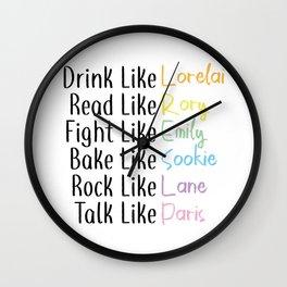 Drink Like... Wall Clock
