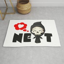 Next cartoon image. Cut death. Rug