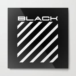 Off Black Metal Print