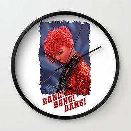 Bang Bang Bang Wall Clock