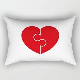 Heart Puzzle Love Symbol . Heart Vector Illustration Rectangular Pillow