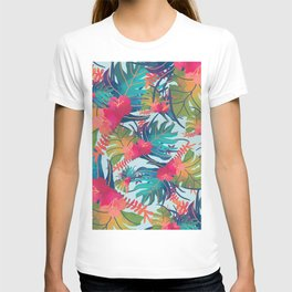 Watercolor Tropical Pattern T-shirt