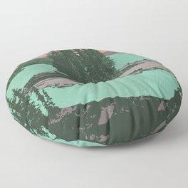Jasper National Park Poster Floor Pillow