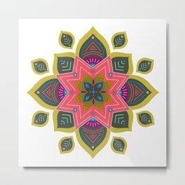 Mandala | Spring Metal Print