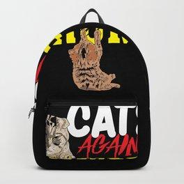 Funny Feminist Anti-Trump - Cats Against Trump Backpack