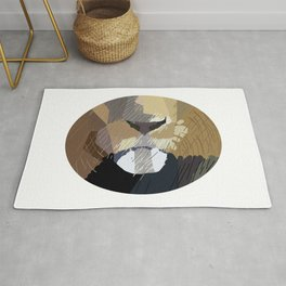 Lion Mouth Abstract Rug