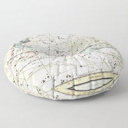Pisces Constellation Celestial Atlas Plate 22 - Alexander Jamieson Floor Pillow