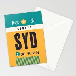 Baggage Tag A - SYD Sydney Australia Stationery Cards
