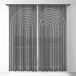 Minimalist Arch III Sheer Curtain