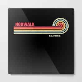 Norwalk California City State Metal Print