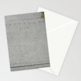 Rosevale Dr NW sidewalk stamp Stationery Cards