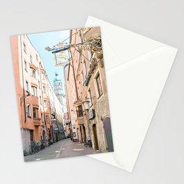 Pastel Innsbruck Street Scene Stationery Cards