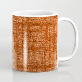 Textured Tweed - Rust Orange Coffee Mug