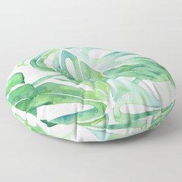 Monstera Leaf Pattern Floor Pillow