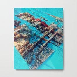 City of Cubes Metal Print