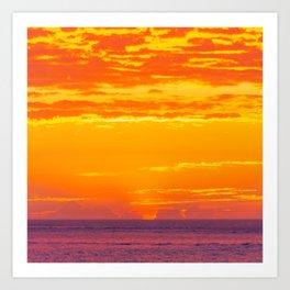 Tropical Sunset Scene Art Print
