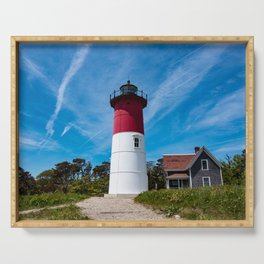 Nauset Lighthouse- Cape Cod, Massachusetts Serving Tray