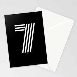Number 7 - Lucky Number Seven T Shirt Stationery Cards