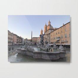 Dawn at Piazza Navona Metal Print
